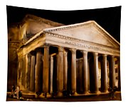 The Pantheon At Night - Painting Tapestry