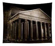 The Pantheon At Night Tapestry
