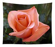 The Perfect Coral Rose Tapestry