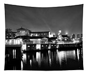 The Philadelphia Waterworks In Black And White Tapestry
