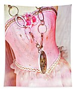 The Pink Tutu Dress With The Fleur De Lis Tapestry