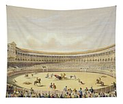 The Plaza De Toros Of Madrid, 1865 Tapestry
