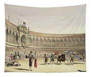 The Plaza Of Seville, 1865 Tapestry