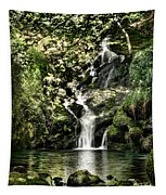 The Pond And The Forest Waterfall Tapestry