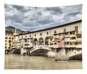 The Ponte Vecchio In Florence Tapestry