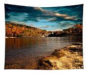 The Pool Below Upper Falls Rumford Maine Tapestry