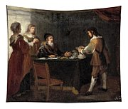 The Prodigal Son Receiving His Portion Of The Inheritance Tapestry