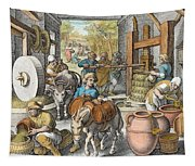 The Production Of Olive Oil, Plate 13 Tapestry