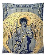 The Raven By Edgar Allan Poe Book Cover Tapestry