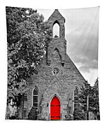 The Red Door Monochrome Tapestry