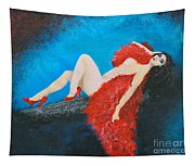 The Red Feather Boa Tapestry