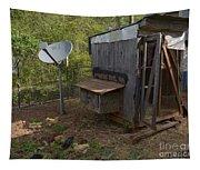 The Redneck Chicken Coop Tapestry
