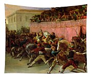 The Riderless Racers At Rome Tapestry