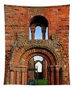 The Romanesque Doorway In The Monastery Tapestry