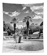 The Sandpiper Pool Bw Palm Desert Tapestry