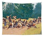 The Scream Of Shrapnel At San Juan Hill Tapestry