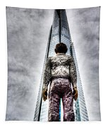 The Shard And Man Statue Tapestry
