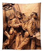 Saint Gaudens -- The Shaw Memorial's Right Side Tapestry