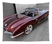 The Show Winner 1958 Corvette Tapestry