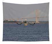The Shrimp Boat Predator  Art Tapestry