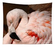 The Shy Flamingo Tapestry