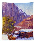The Side Of The Road At Zion Tapestry