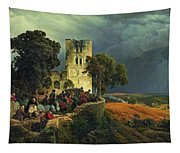 The Siege. Defense Of A Church Courtyard During The Thirty Years' War Tapestry