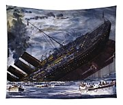 The Sinking Of The Titanic Tapestry