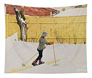 The Skier Tapestry