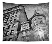 The Stafford Hotel - Grayscale Tapestry