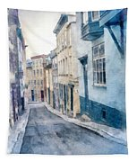 The Streets Of Old Quebec City Tapestry
