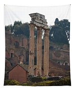 The Temple Of Castor And Pollux Tapestry