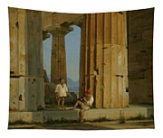 The Temple Of Poseidon. Paestum Tapestry