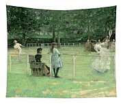 The Tennis Party Tapestry