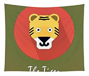 The Tiger Cute Portrait Tapestry