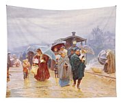 The Train Has Arrived, 1894 Tapestry