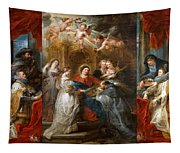 The Triptych Of Saint Ildefonso Altar Tapestry