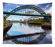 The Tyne Road Bridge With The Sage Tapestry