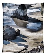 The Unexplored Beach Painted Tapestry