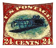 The Upside Down Biplane Stamp - 20130119 Tapestry
