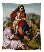 The Virgin And Child Between Saint Matthew And An Angel Tapestry