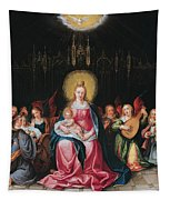 The Virgin And Child Surrounded Tapestry