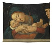 The Virgin And Child With Four Saints Tapestry