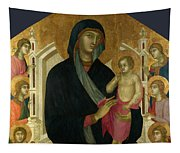 The Virgin And Child With Six Angels Tapestry