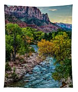 The Watchman At Sunrise Tapestry