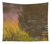 The Waterlilies At Setting Sun Tapestry