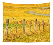 The Winding Road The Crooked Fence And The Bluebird Tapestry