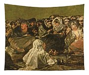The Witches Sabbath Or The Great He-goat, One Of The Black Paintings, C.1821-23 Oil On Canvas Tapestry