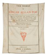 The Works Of Edgar Allan Poe Tapestry