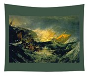 The Wreck Of A Transport Ship Tapestry